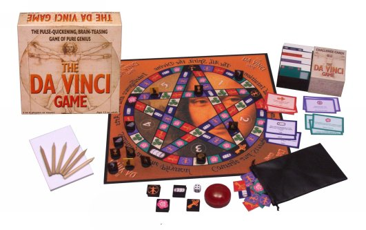 The Da Vinci Game - Box and Board (large image) boardgame with 800 codes, riddles and anagrams